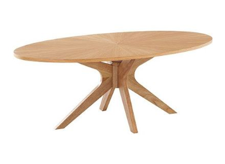 Oval Light Oak Coffee Table
